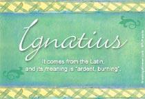 Name Ignatius