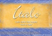 Name Italo