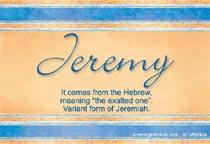 Name Jeremy