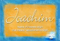 Name Joachim