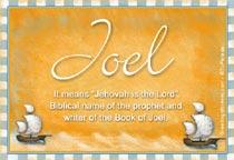Name Joel