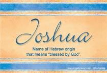 Name Joshua