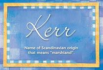 Name Kerr