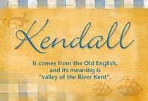 Name Kendall