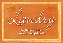 Name Landry