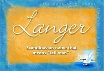 Name Langer