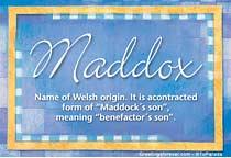 Name Maddox