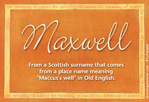 Name Maxwell