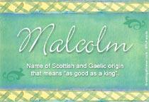 Name Malcolm