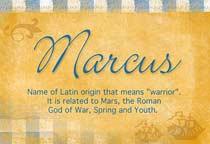 Name Marcus