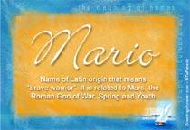 Name Mario