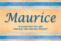 Name Maurice