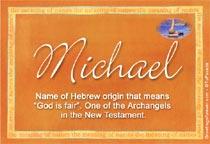 Name Michael
