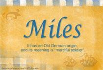 Name Miles