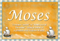 Name Moses