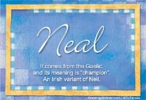 Name Neal