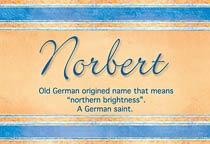 Name Norbert