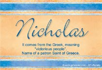 Name Nicholas