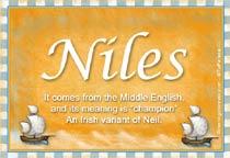 Name Niles