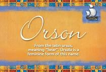 Name Orson