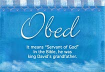 Name Obed