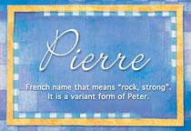 Name Pierre