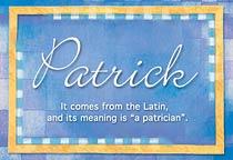Name Patrick