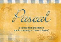 Name Pascal