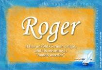 Name Roger