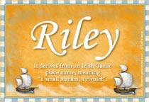 Name Riley