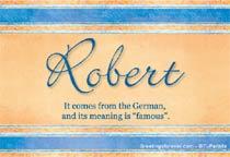 Name Robert