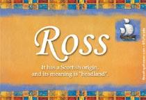 Name Ross