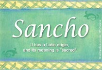 Name Sancho