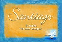 Name Santiago