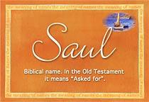 Name Saul