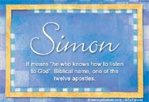 Name Simon