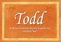 Name Todd