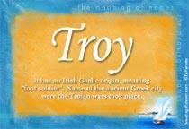 Name Troy
