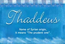 Name Thaddeus
