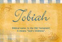 Name Tobiah