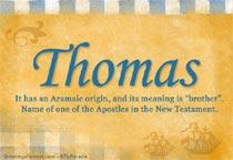 Name Thomas