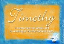 Name Timothy
