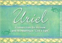 Origen y significado de Uriel