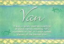 Name Van