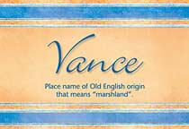 Name Vance