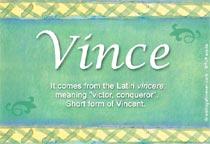 Name Vince