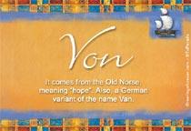 Name Von