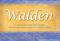 Name Walden