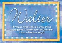 Name Walter