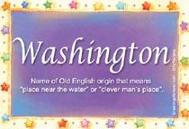 Name Washington
